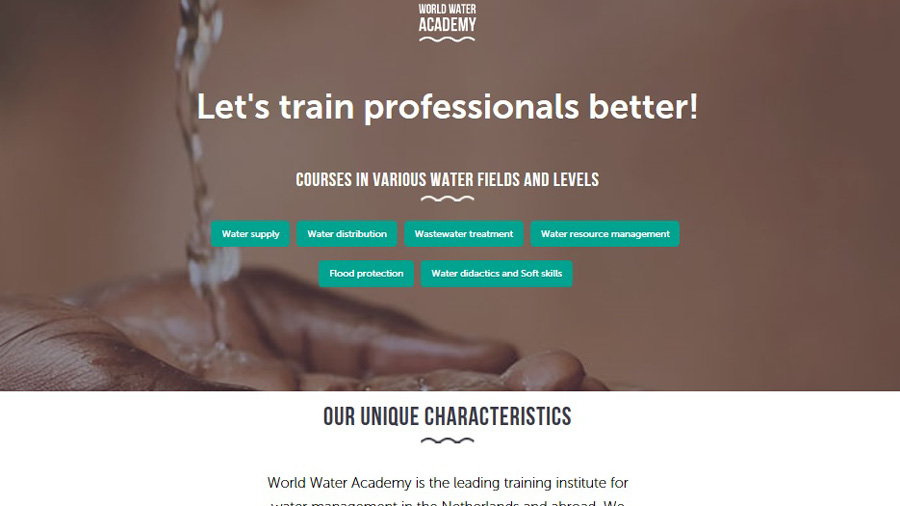 Launch new website World Water Academy
